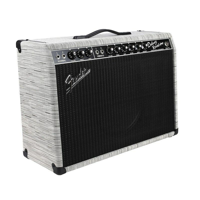 Limited Edition '65 Deluxe Reverb Chilewich Chalk Creamback_3