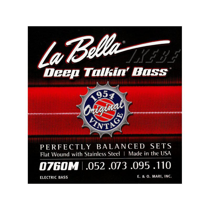 760M Flat Wound Stainless Steel Bass Strings ジェームス・ジェマーソン弦_1