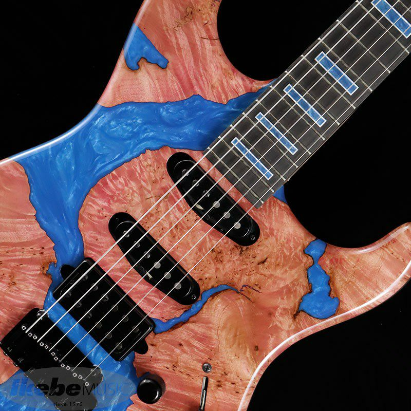 IKEBE 45th Anniversary MC-IKB45TH Burl Maple×Resin (See-through Red w/Blue Resin)_5