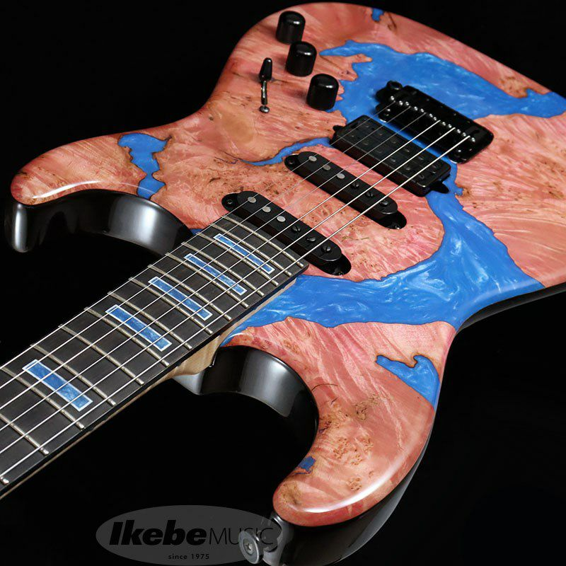 IKEBE 45th Anniversary MC-IKB45TH Burl Maple×Resin (See-through Red w/Blue Resin)_6
