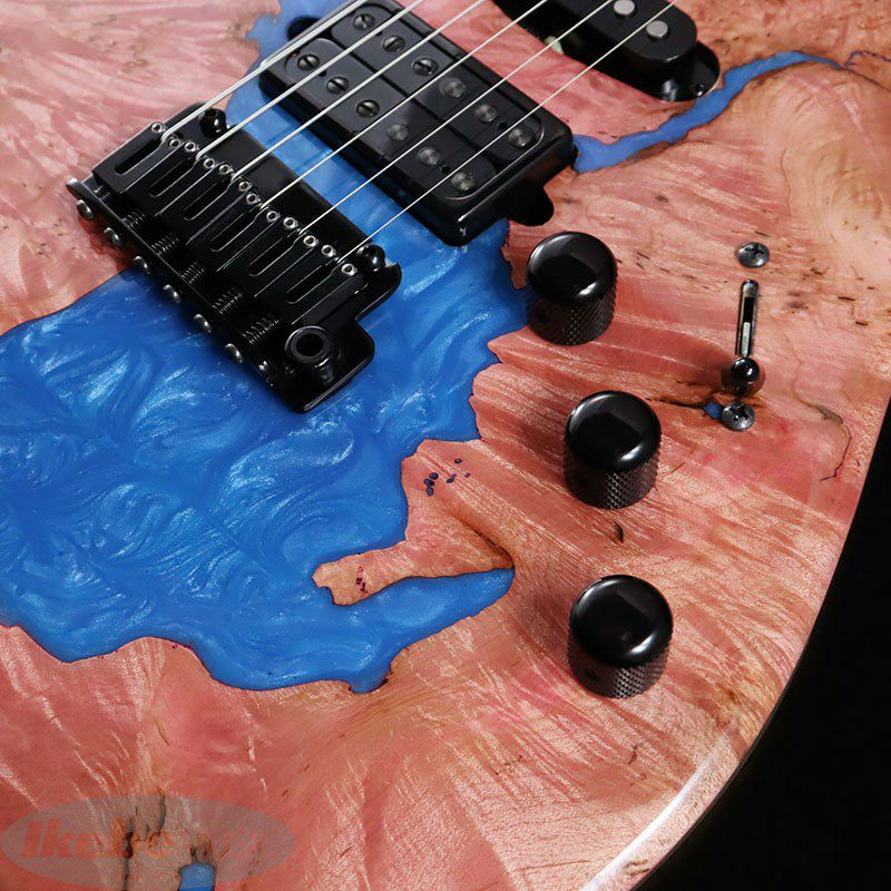 IKEBE 45th Anniversary MC-IKB45TH Burl Maple×Resin (See-through Red w/Blue Resin)_7