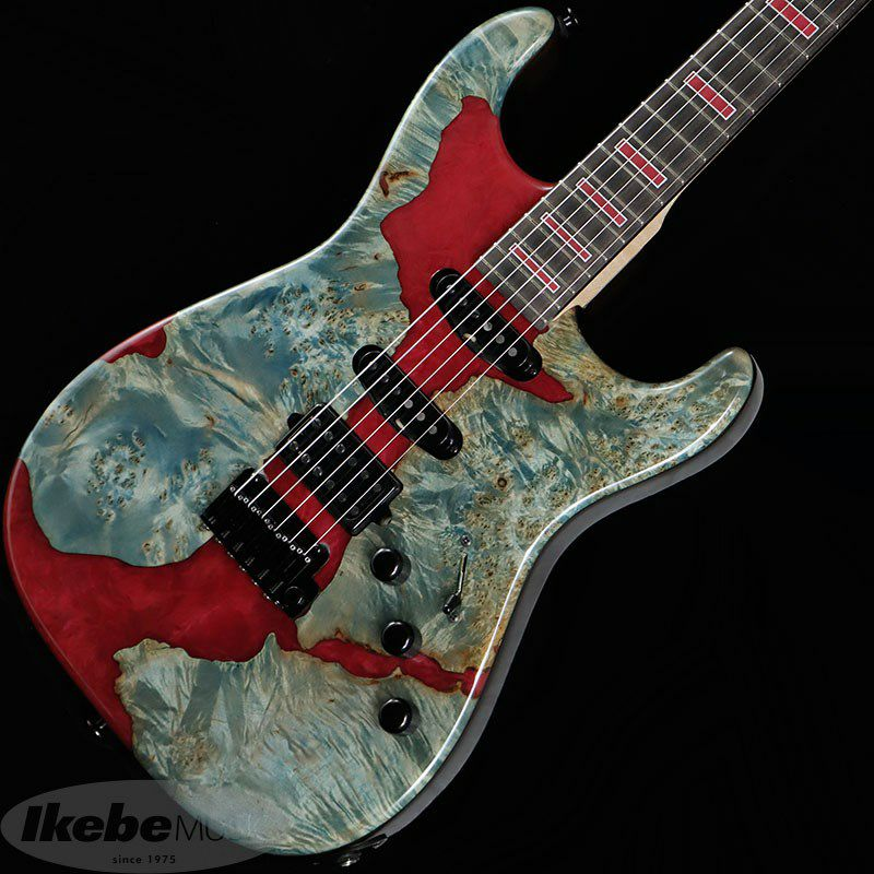 IKEBE 45th Anniversary MC-IKB45TH Burl Maple×Resin (See-through Blue w/Red Resin)_1