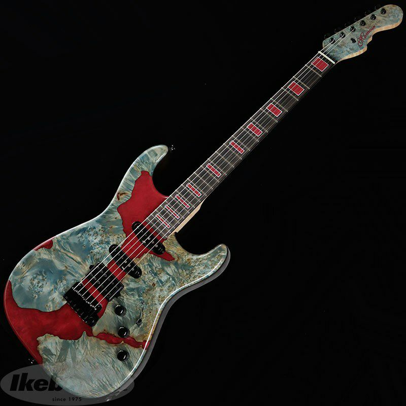 IKEBE 45th Anniversary MC-IKB45TH Burl Maple×Resin (See-through Blue w/Red Resin)_2