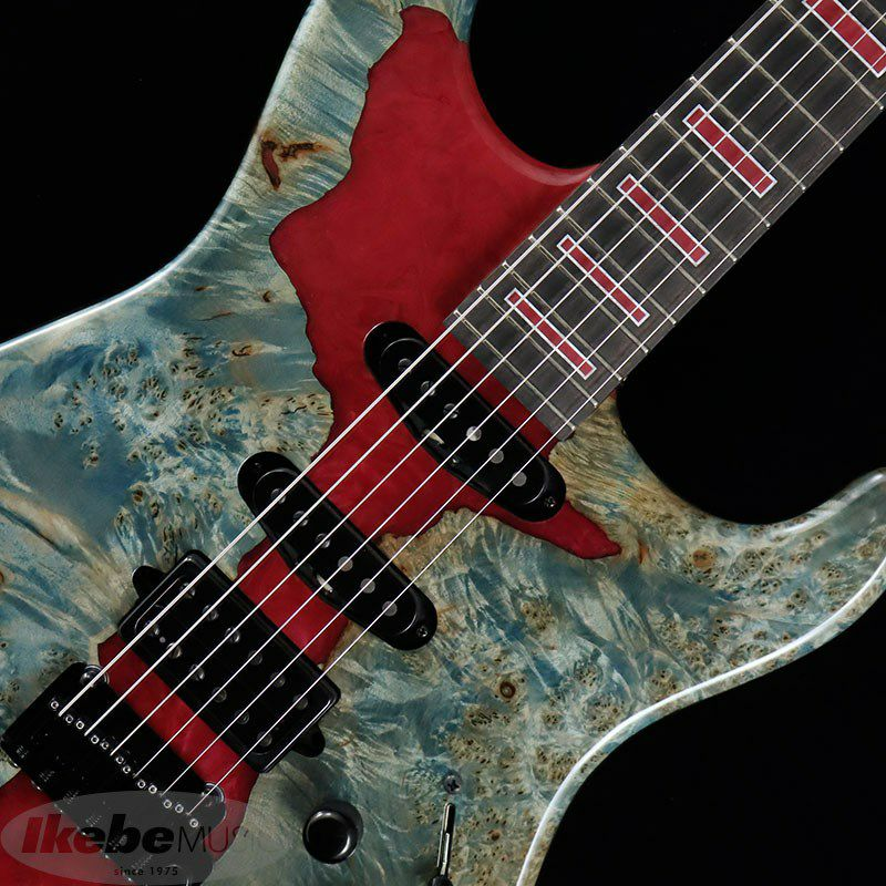 IKEBE 45th Anniversary MC-IKB45TH Burl Maple×Resin (See-through Blue w/Red Resin)_5