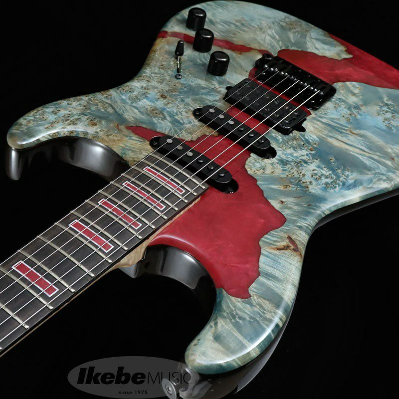 IKEBE 45th Anniversary MC-IKB45TH Burl Maple×Resin (See-through Blue w/Red Resin)_6