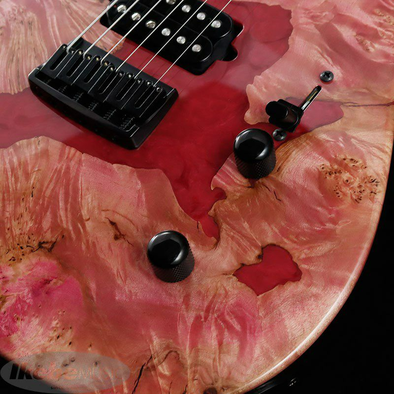 IKEBE 45th Anniversary MT-IKB45TH Burl Maple×Resin (See-through Pink w/Red Resin)_7