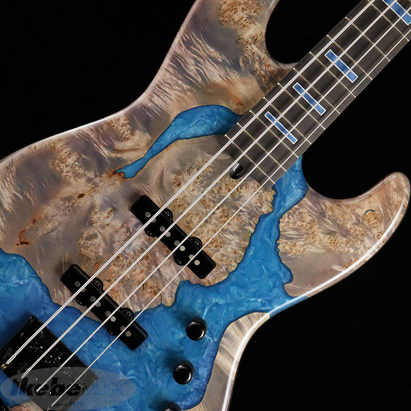 "IKEBE 45th Anniversary MJ-IKB45TH ""Burl Maple×Resin"" (See-through Purple w/Blue Resin)_5"