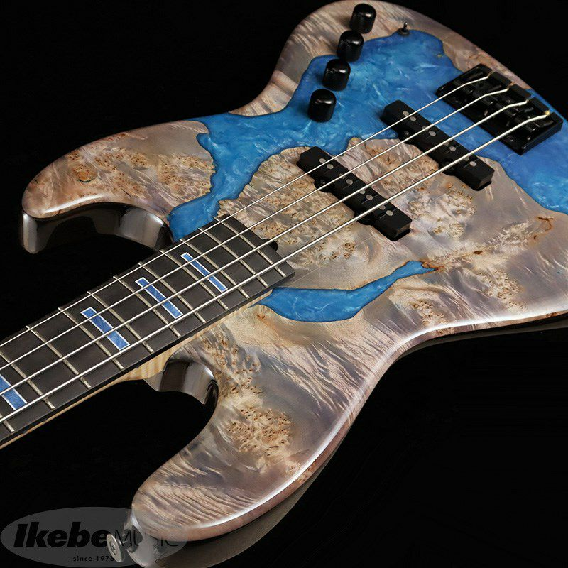 "IKEBE 45th Anniversary MJ-IKB45TH ""Burl Maple×Resin"" (See-through Purple w/Blue Resin)_6"