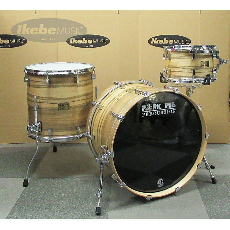 9ply Oak Shell 3pc Drum Set w/African Marble + Natural Satin Finish 【店頭展示特価品】_1