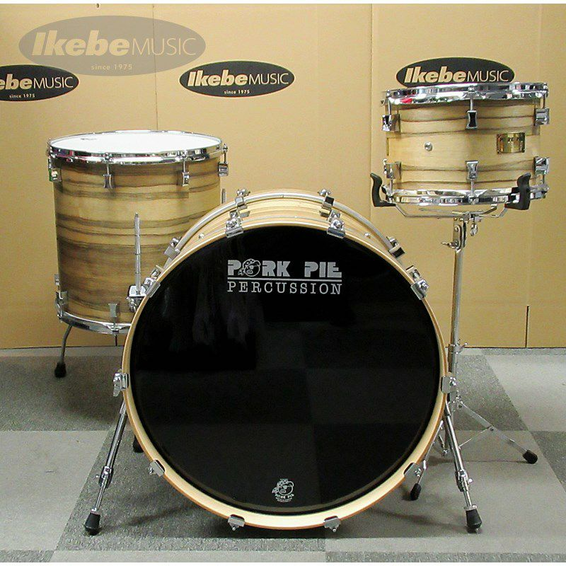 9ply Oak Shell 3pc Drum Set w/African Marble + Natural Satin Finish 【店頭展示特価品】_2