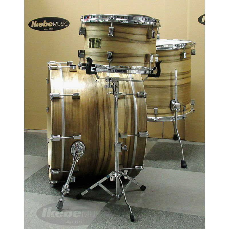 9ply Oak Shell 3pc Drum Set w/African Marble + Natural Satin Finish 【店頭展示特価品】_4