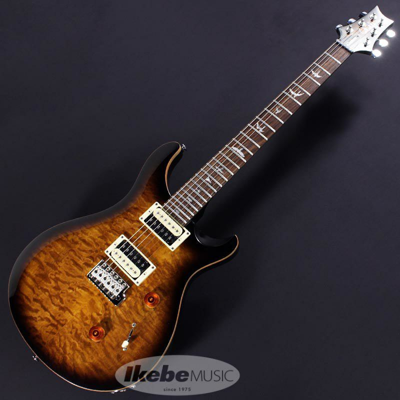 Japan Limited SE CUSTOM 24 Quilted MapleTop, Matching Head (Black Gold Burst)  【ポイント20%還元】_2