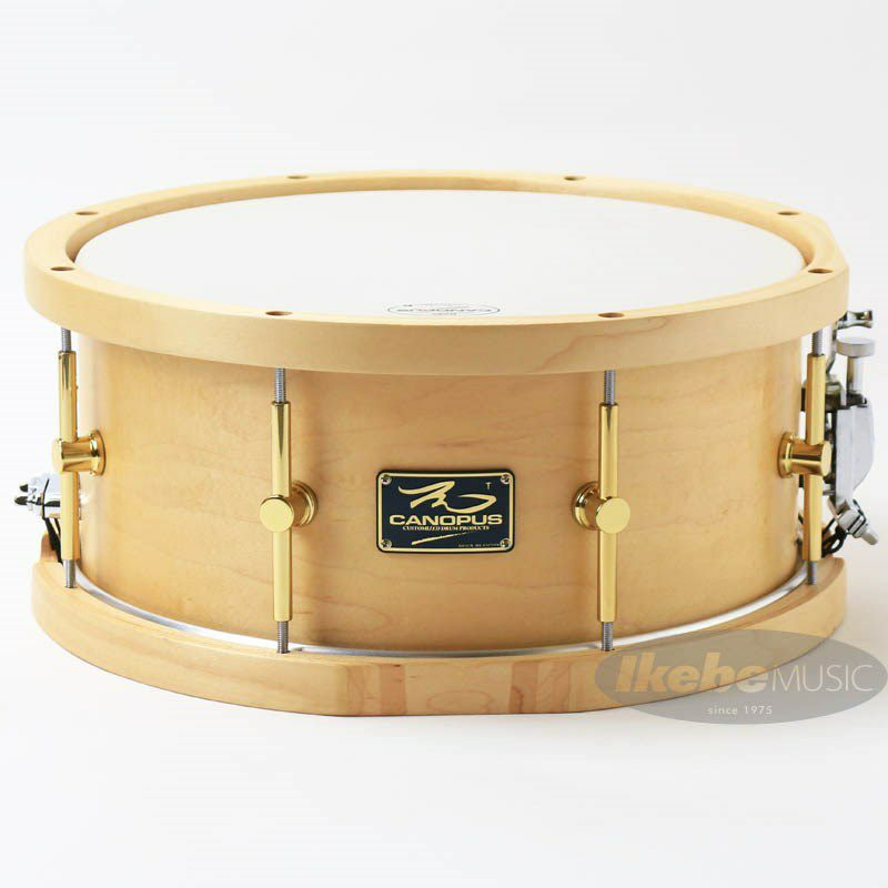 "MO-1465WH [MO Snare Drum 14""×6.5"" w/Wood Hoops / Natural Oil]_1"