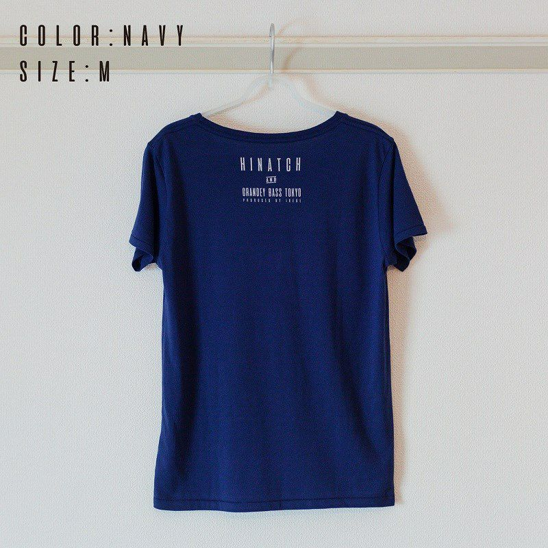 HINATCH Bassist 25th Anniversary Collaboration T-Shirt 「MORE゜」(Navy/S)_2