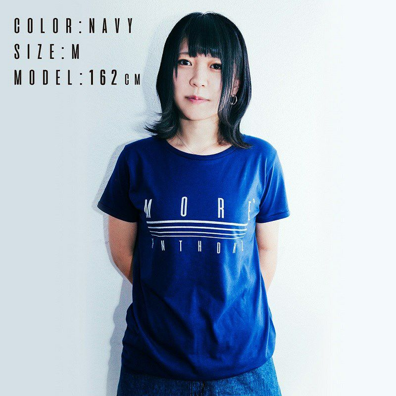 HINATCH Bassist 25th Anniversary Collaboration T-Shirt 「MORE゜」(Navy/S)_5