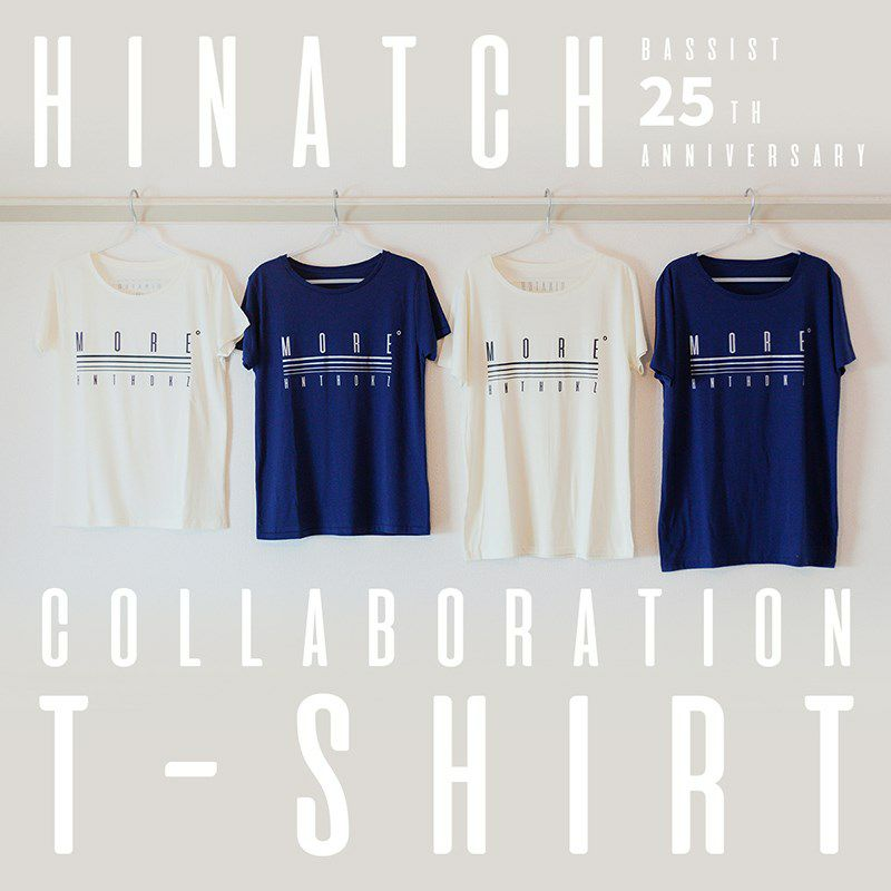 HINATCH Bassist 25th Anniversary Collaboration T-Shirt 「MORE゜」(Navy/S)_7