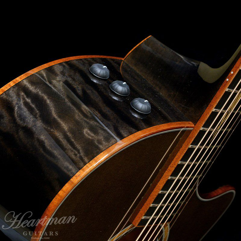 Custom GAce AA Quilt Maple/Hawaiian Koa 3-Piece Transparent Black 【ハートマンギターズ・オーダーモデル】 [CL2020]_5