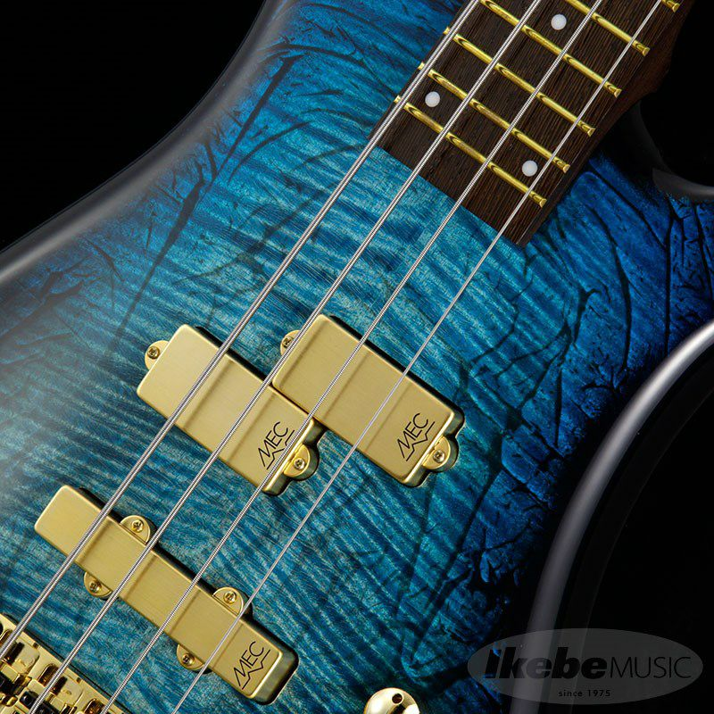 CS Streamer LX 4st Hand-Selected AAA Coloured Flamed Maple/Bleached Turquoise Blue Threadburst HP_4