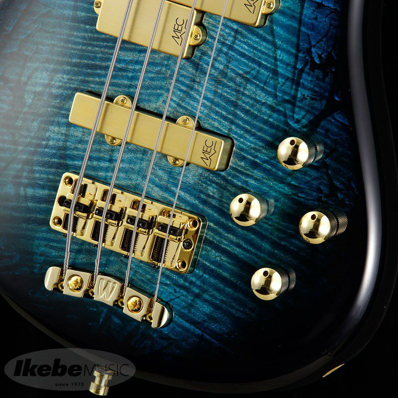 CS Streamer LX 4st Hand-Selected AAA Coloured Flamed Maple/Bleached Turquoise Blue Threadburst HP_5