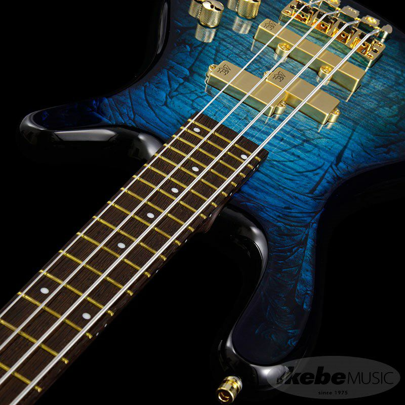 CS Streamer LX 4st Hand-Selected AAA Coloured Flamed Maple/Bleached Turquoise Blue Threadburst HP_6