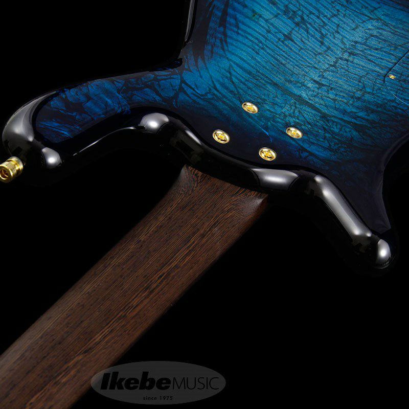 CS Streamer LX 4st Hand-Selected AAA Coloured Flamed Maple/Bleached Turquoise Blue Threadburst HP_7