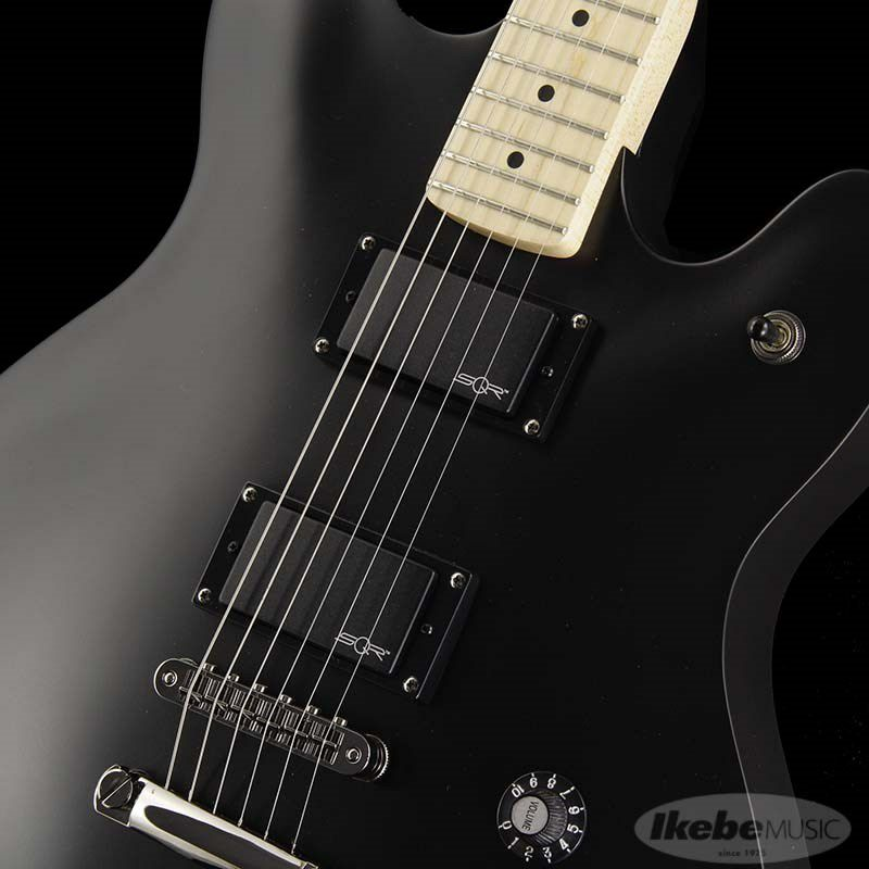 Contemporary Active Starcaster (Flat Black/Maple Fingerboard)_4