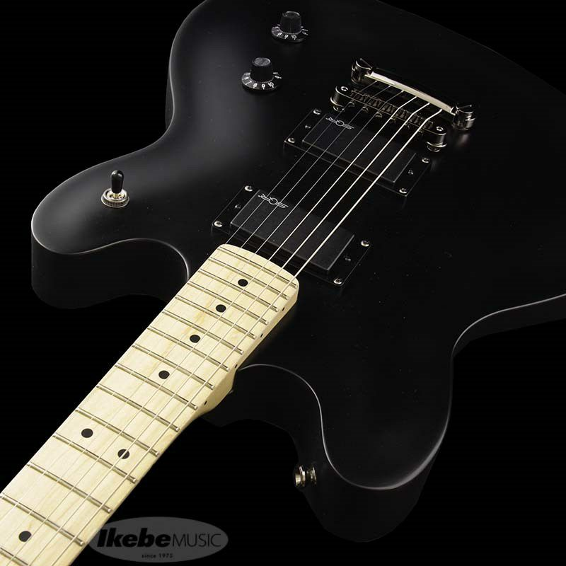Contemporary Active Starcaster (Flat Black/Maple Fingerboard)_6
