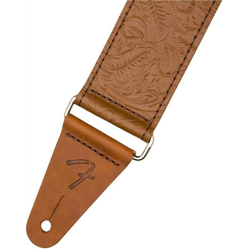"TOOLED LEATHER GUITAR STRAP. 2"" (Brown) (#0996970000)_2"