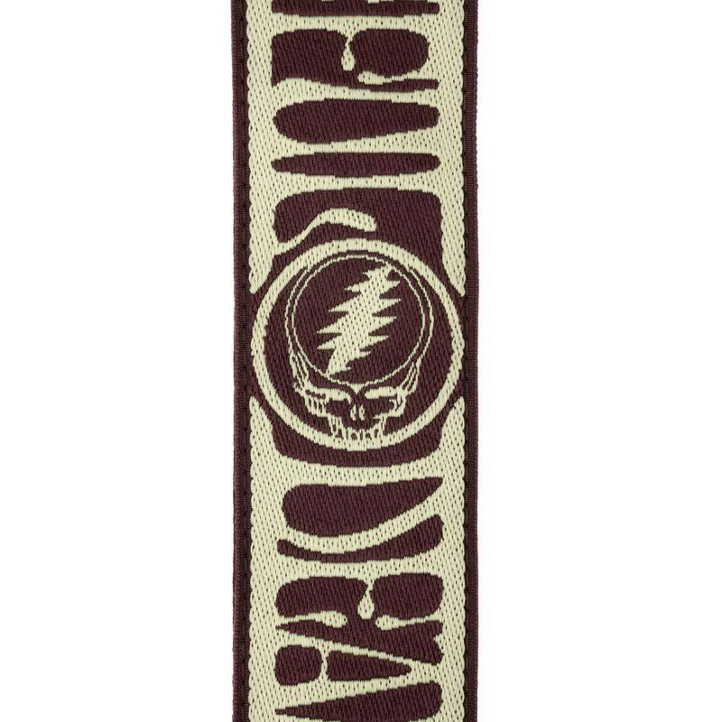 Grateful Dead Woven Strap Steal Your Face (Tan/Brown)[50GD01]_2